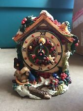 "ADORNO ACTION MUSICAL MUSIC BOX -CLOCK-PLAYS ""JINGLE BELL ROCK"""