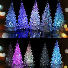 Crystal Christmas Tree LED Table Lamp Light Ornaments Decoration Xmas Party