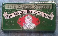 221b Baker Street Board Game by Gibson's Complete with RARE cases 41-60 inc
