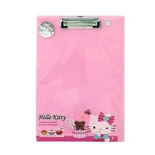 Sanrio Hello Kitty Hard Board Plastic Clip Board : Kitty with Teddy Bear