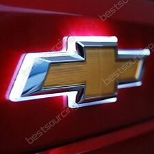 LED Car Emblem Badge Auto Symbol Decal Light Lamp For White Chevrolet Cruze