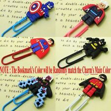 6pcs/set Super Heroes Cartoon Bookmarks PVC Book Marks/Clips Kids Boys Gifts