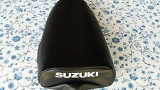 Suzuki JR50 1978-1985 replacement seat cover best quality white dyed logo