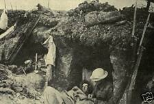 "British Army Soldiers in a Captured German Trench World War 1, 6x4"" Reprint"