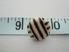 ST JOHN YELLOW, BLACK AND GOLD BUTTON