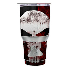 Skin Decal for Ozark Trail 30 oz Tumbler Cup (6-piece kit) / Punish Face on glo