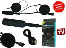 BT AURICOLARI MICROFONO BLUETOOTH IMPERMEABILE PER CASCO MOTO MP3