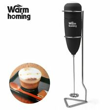 Milk Frother - Milk Steamer Electric Rubber Handheld Milk Frother with Stand