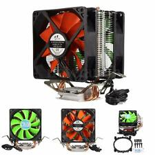 3 Pin Dual Fan CPU Cooler Heatsink For Intel LGA775/1156/1155 AMD AM2/AM2+/AM3