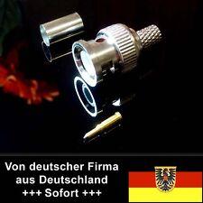 BNC-Stecker (m), Standard mit Lötanschluß, RG58 RG59 Gold-Pin für Video