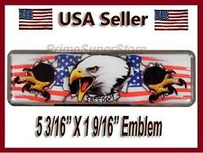 Chrome USA American Eagle Freedom Flag Self Adhesive Emblem Decal Car Motorcycle