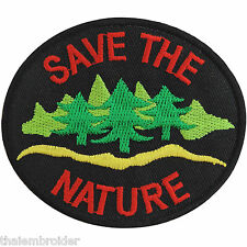 Save the Nature Black Energy Tree Water Love Earth World Iron on Patch #A005