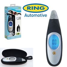 Ring Digital Tyre Pressure Air Gauge Portable LCD & Carry Case Car Van Bike RTG5