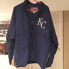RONDELL WHITE Signed AUTHENTIC GAME WORN KC ROYALS JACKET w/ Hologram COA AUTO