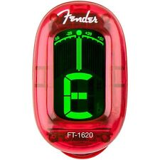 Fender FT-1620 California  Chromatic Clip On Guitar Bass Tuner Candy Apple Red