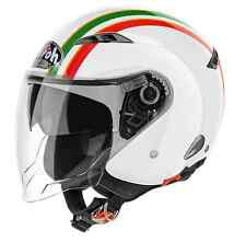 CASCO MOTO JET VISIERINO SOLARE AIROH CITY ONE STYLE GOLD VERDE ROSSO TG M