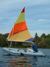 Sail Kit for Inflatable Tenders, Dinghy, Zodiac and other hard transom boats