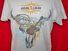 JASON ALDEAN Rapin & Rockin Steer Skull Signature Back T-SHIRT M Country Music
