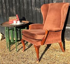 Vintage Parker Knoll Wing Back Armchair PK 918 For Re-Upholstery