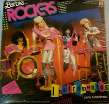 1986 BARBIE AND THE ROCKERS LIVE CONCERT INSTRUMENTS Spanish writing Seal Boxl