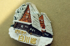 Shirakawa Village, World Cultural Heritage Japan Souvenir 3D Resin Fridge Magnet
