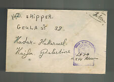 1944 England Field Post Office Censored Navy HMS SHip Cover to Haifa Palestine