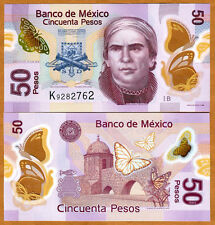 Mexico, 50 Pesos, 2012, POLYMER, Pick New, UNC   Redesigned