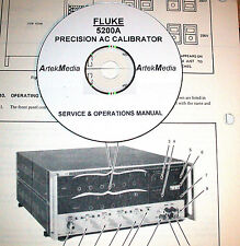 FLUKE 5200A Precision AC Calibrator Instruction (Ops+Service)   Manual