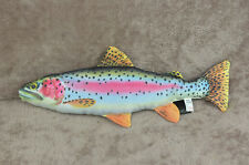 New fish pillow RAINBOW TROUT stuffed novelty cushion pillow soft toy 62 cm