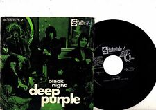 DEEP PURPLE 7'' PS Black Night PORTUGAL very rare PORTUGUESE UNIQUE COVER 45