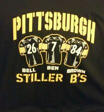 PITTSBURGH STEELERS The 3 B's T-Shirt Men's X-Large Ben Brown and Bell