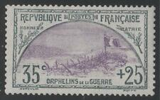 """FRANCE STAMP TIMBRE N° 152 """" ORPHELINS 35c+25c TRANCHEE DRAPEAU """" NEUFxxTTB K487"""