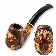 "HQ Hand-Carved Smoking Pipe RUSSIAN EAGLE Tobacco Pipes 6.1"" ECO Pear Wood +GIFT"