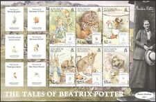 Solomons 2006 Beatrix Potter/Owl/Hedgehog/Rabbit/Books/People 6v m/s (n16938)