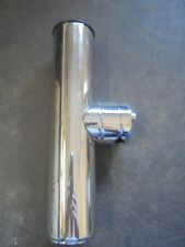 """stainless clamp on fishing rod holder for rails 7/8"""" to 1"""" rail mount rod holder"""