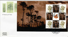 18 SEPTEMBER 2000 A TREASURY OF TREES FULL PANE 4 ROYAL MAIL FDC CARDIFF SHS (a)
