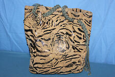 Sac shopping Tissu Synthetique  Motif Tigre BE