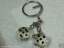 Dice Keychain Key Fob Unscrew um Play em clear (also have in othe colors #137)
