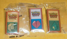 3 X POKEMON PIN BADGES - KANTO LEAGUE 2000/2001 - NEW (BNIP)