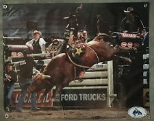 Rodeo bull riding banner cowboy steer rope saddle poster hat glove boots vest us