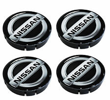 4 Wheel Center Silicone Caps Car Hub 3D Resin Tuning Logo Emblem Nissan 60mm