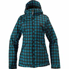 BURTON Women's MAN EATER Jacket - Size 3 - Argon Plaid - NWT - Reg $300
