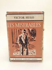 1931 LES MISERABLES Victor Hugo MODER LIBRARY GIANT with Dust Jacket CLASSICS