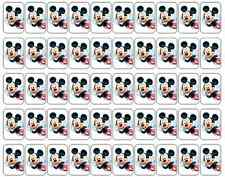 """50 Mickey Mouse Envelope Seals / Labels / Stickers, 1"""" by 1.5"""""""