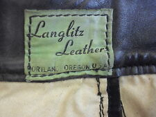 1947 Vintage Green Label Langlitz Leather Pants USA Rare 30X30""