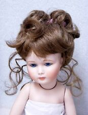 MONIQUE Doll Wig ~ LYDIA ~ 8-9- LIGHT BROWN - Updo RIBBONS & Long TENDRILS