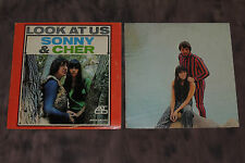 "LP's ~ Sonny & Cher~""Look At Us"" '65 Atco 1st LP & ""Greast Hits"" Atco Double LP"