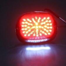 LED Smoke Tail Stop Light License Plate Brake  Fit Harley Softail Dyna Sportster