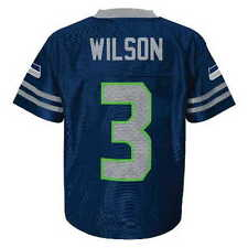 (2016-2017) Seattle Seahawks RUSSELL WILSON nfl Jersey YOUTH KIDS BOYS (xl)