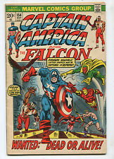 Captain America #154- Wanted: Dead or Alive! - (6.0) 1972